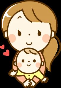 産後のママと赤ちゃんイラスト